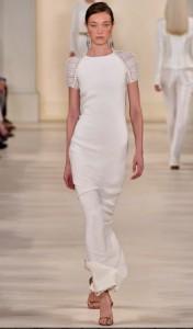 ralph lauren white dress runway 2015
